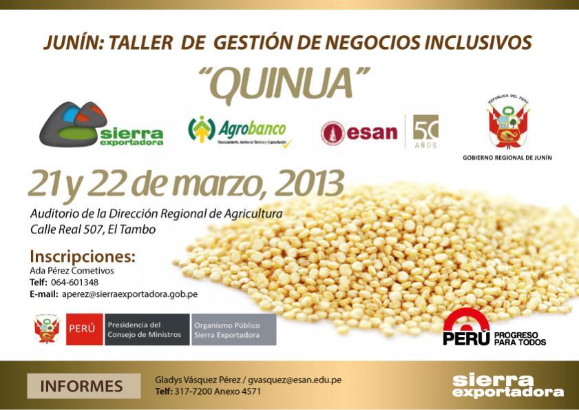 Nombre:  TALLER DE GESTION DE NEGOCIOS INCLUSIVOS QUINUA-01.jpg Visitas: 2450 Tamaño: 76.2 KB